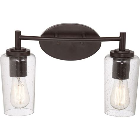 Edison Vanity Lighting quoizel eds8602wt western bronze edison 2 light 16 quot wide reversible bathroom vanity light with