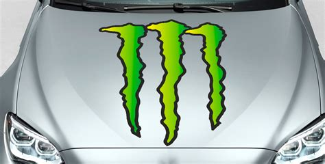 Monster Energy Windshield Sticker by M Green Monster Custom Vinyl Sticker Windshield Banner Decal