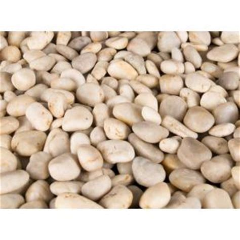 ms international 40 lb small white polished pebbles bag