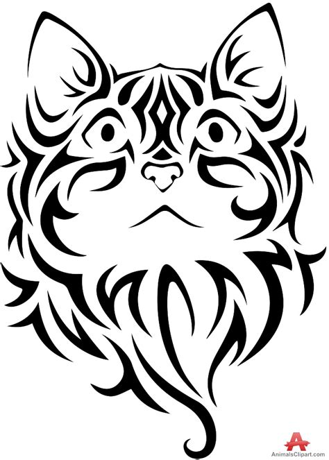cat tribal tattoo designs tribal clipart cat pencil and in color tribal clipart cat