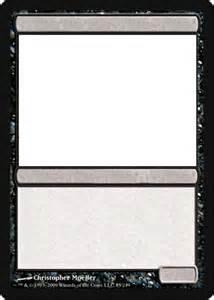 Magic Card Template by Mtg Blank Black Card By Growlydave On Deviantart