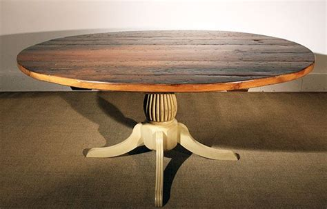Reclaimed Wood Oval Dining Table Oval Reclaimed Barn Wood Dining Table For The Home Barn Wood Oval Table And
