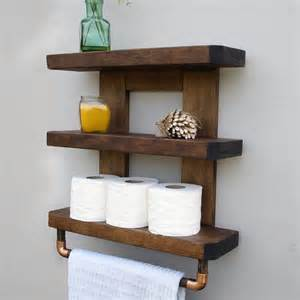 wood shelves bathroom bathroom shelf