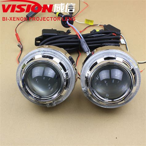 led len auto auto headlight 3 0inch bi xenon projector len with light