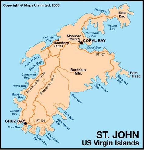 st johns island map map of st s island caribbean
