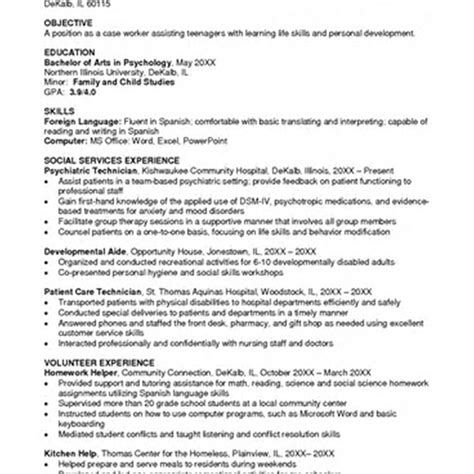 Psychology Resume by Psychology Resume Resume And Cover Letter Resume And