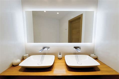 led lighted bathroom mirror halo bathroom lighted mirror vanity or dress mirror by