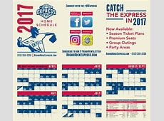 2017 Printable Home Schedule | Round Rock Express Schedule 2017 Texas Rangers Schedule Printable