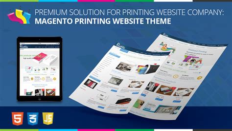 Premium Solution For Printing Website Company Magento Printing Website Theme Web2print Solutions Printing Ecommerce Website Template