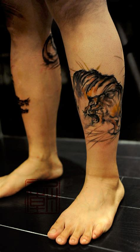 amazing thigh tattoo designs 50 amazing tiger tattoos design snaps