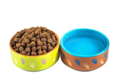 bilder toilettenschã sseln trockenes hundefutter und wasser in den keramischen