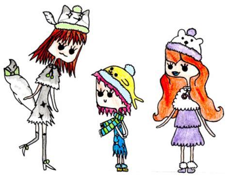 the arctic queen's sisters :d by peppermintskunk on deviantart