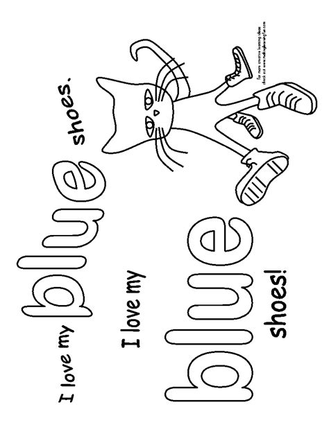 coloring page pete the cat pete the cat coloring pages