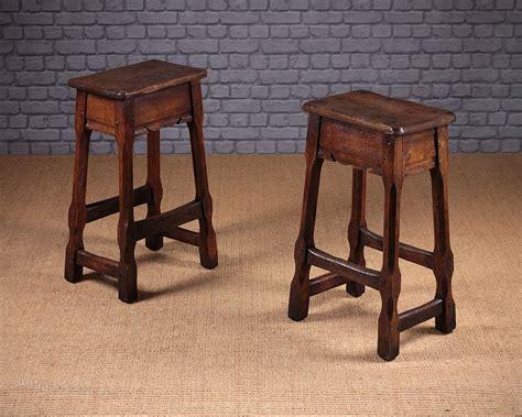 Antique Oak Bar Stools by Pair Oak Bar Stools C 1910 Antiques Atlas