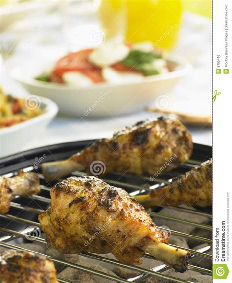 chicken cooking on a grill royalty free stock image image 8755416