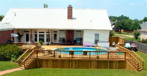 ground  pool love   deck surrounds