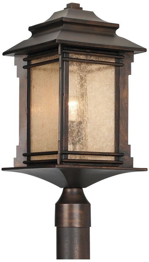 franklin iron works lighting franklin iron works hickory point 21 1 2 quot high post light