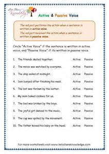 passive voice worksheet worksheet amp workbook site