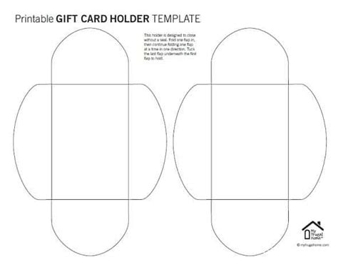 gift card money holder template printable gift card holder templates