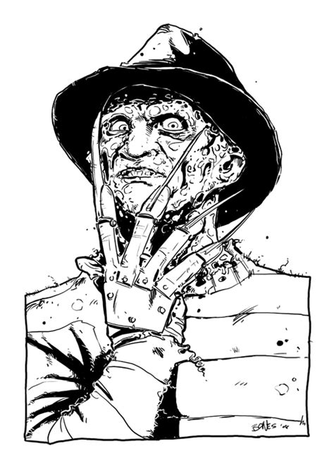 freddy krueger coloring pages sketch coloring page
