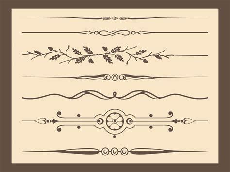 vintage line art tutorial antique vector ornaments