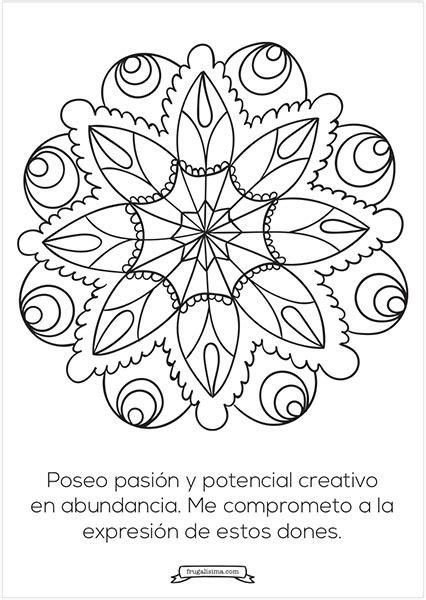 11 Mandalas para pintar con afirmaciones poderosas