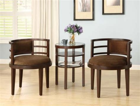 Furniture Of America Frieda 3 039 S Galleria 3 Accent Chair And Side Table Set Accent Table And Chairs Set