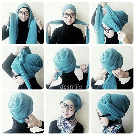 video tutorial hijab turban terbaru pin hijab tutorial turban for easy on pinterest