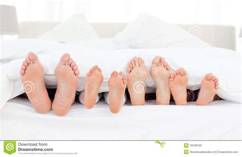 bed feet family s feet in the bed stock image image of husband