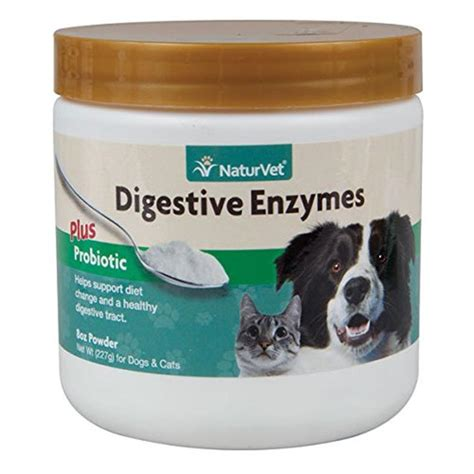digestive enzymes for dogs buy naturvet digestive enzymes powder for dogs and cats