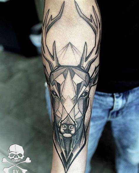 geometric elk tattoo the 25 best elk tattoo ideas on pinterest geometric elk