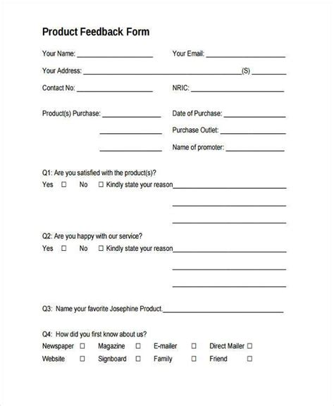 doc 600730 sle feedback form template sle