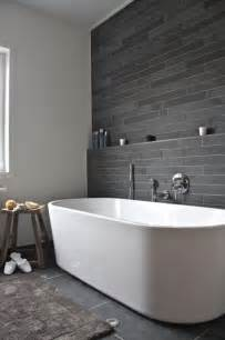Bathroom Wall Pictures Ideas by 35 Black Slate Bathroom Wall Tiles Ideas And Pictures