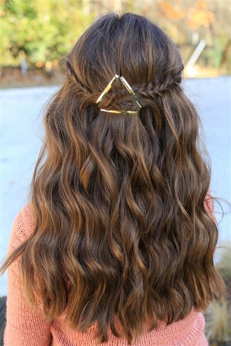 Pretty Hairstyles For School Photos by Barrette Tieback Hairstyles