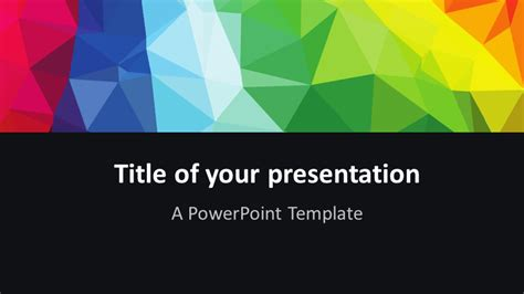 Modern Polygons Powerpoint Template Presentationgo Com Widescreen Powerpoint Templates