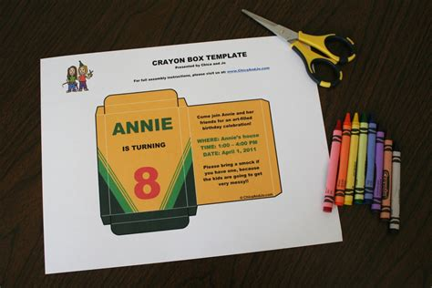 custom crayon box invitation cafemom