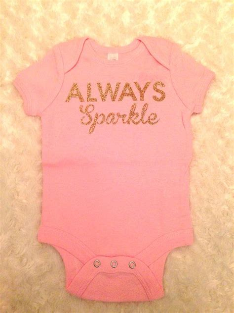 baby sparkle onesie flawless onesie onesie by 1218 months baby onesie pink always by