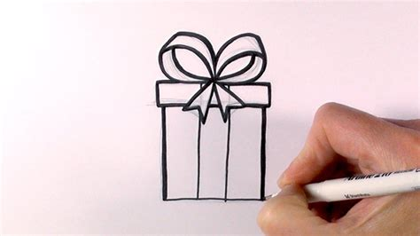 christmas drawing step by step and gift to gift cartoon present drawing step by step gift giving card ideas