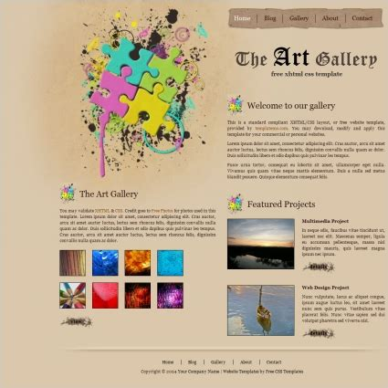 templates for artist website art gallery free website templates in css html js format