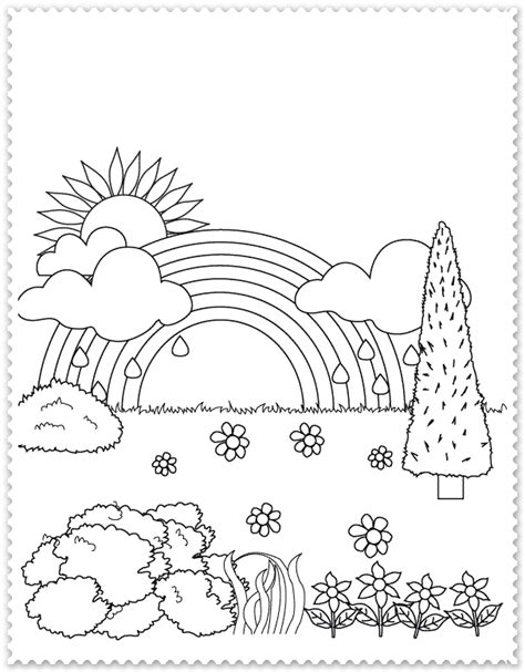 printable coloring pages nature scenes curcubeul planse de colorat planse de colorat