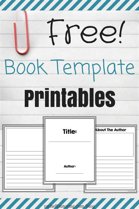 Free Book Template Printables Rachel K Tutoring Blog Template For Writing A Children S Book