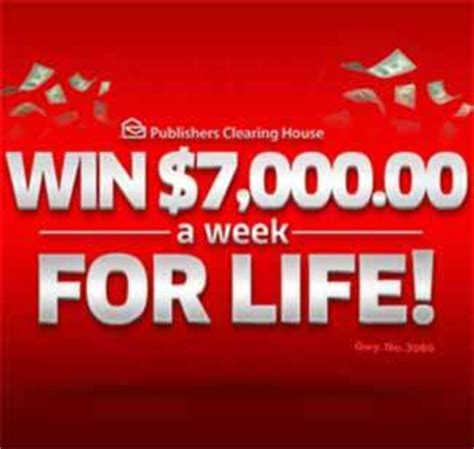 Pch For Life - pch 7 000 a week for life sweepstakes gwy no 4900