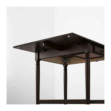 drop leaf table ikea ingatorp drop leaf table black brown 59 88 117x78 cm ikea