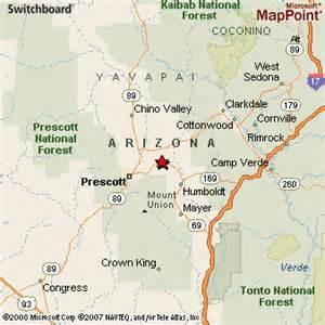 arizona map prescott prescott valley arizona