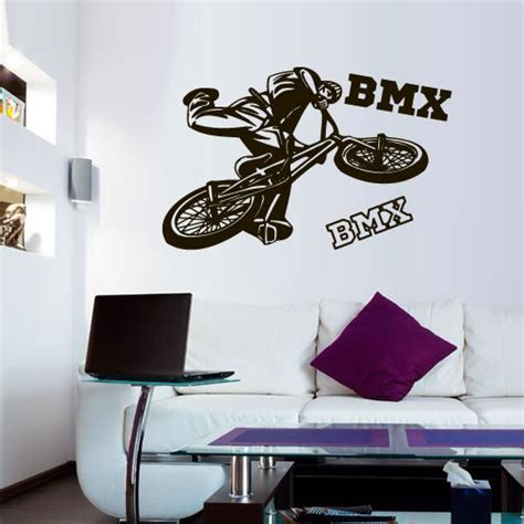 bmx wall stickers n 186 details about wall decal ᗖ bmx bmx rider sticker bike