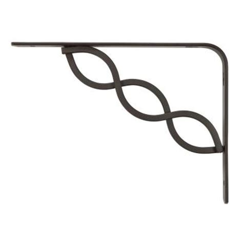 decorative shelf brackets home depot rubbermaid 6 in l x 8 in h bronze steel celtic scroll