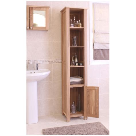 oak bathroom cabinets storage mobel solid oak furniture bathroom storage cabinet ebay