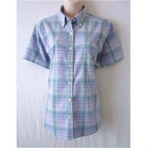 cabin creek womens large brown plaid button front
