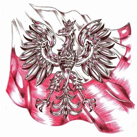 polish eagle tattoo designs eagle flag tattoos behance flags