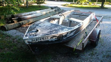 aluminum boats usa aluminum runabout 1950 for sale for 300 boats from usa